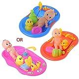 RK-HYTQWR Badewanne Mit Babypuppe Badespielzeug Für Kinder Wasser Schwimmspielzeug...