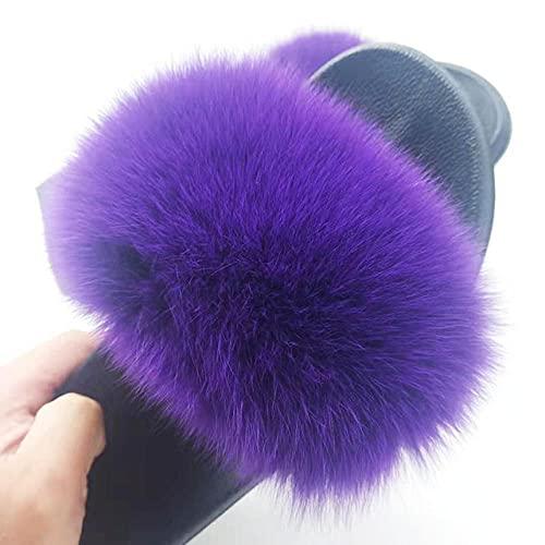 Perferct Schuhe Damen Winter Stiefel,Sommer Kinder Anti-Fox-Woll-Hausschuhe, Damenpelz Zo Sandschuhe-UK 5,5 (20,5 cm / 8.07')_Ö