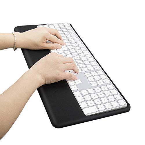 Magic Keyboard Wrist Rest Ergonomic Keyboard Stand Compatible with Wireless Magic Keyboard 2 with Numeric Keypad (Black Silicone)…