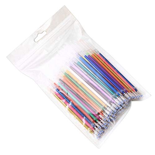 Sairis 100 Colores/Juego No tóxico Respetuoso con el Medio Ambiente Tinta Neutra Bolígrafo Gel Recambios Bolígrafo Oficina Graffiti Bolígrafos Recarga