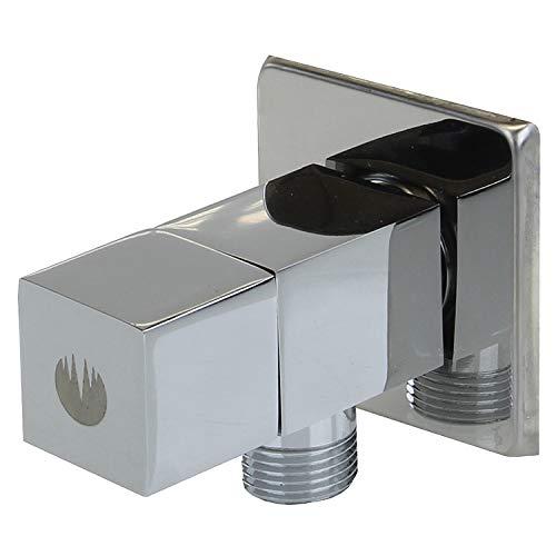 Sanixa GO1305HTQ Eckventil für Küche & Bad | 1/2 Zoll + 3/8 Zoll | Eckregulierventil | Wasseranschluss Verteiler | Absperrventil Warm- & Kaltwasser