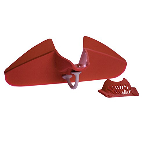Silpoura Clip On Single Red Silicone Pouring Spout