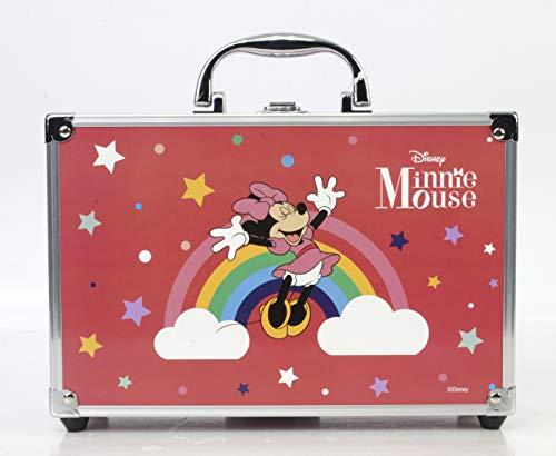 Minnie Mouse Makeup Train Case - Maletín de Maquillaje de 2 Pisos - Set de Maquillaje para Niñas - Maquillaje Minnie Mouse - Neceser Maquillaje en un Estuche Mágico Reutilizable con Espejo