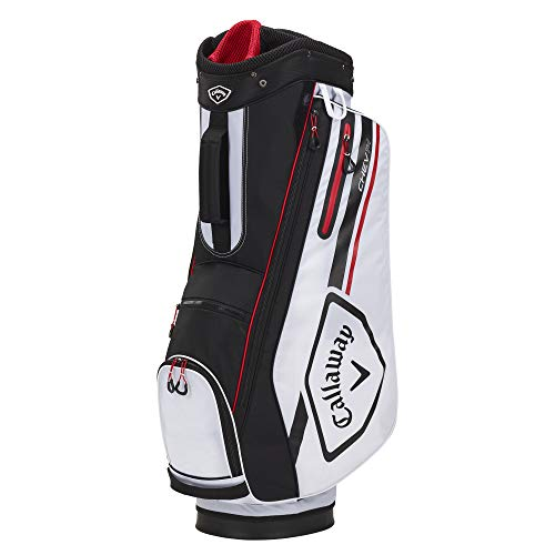 Callaway Golf 2021 Chev 14 Cart Bag , WHITE/BLACK/FIRE RED