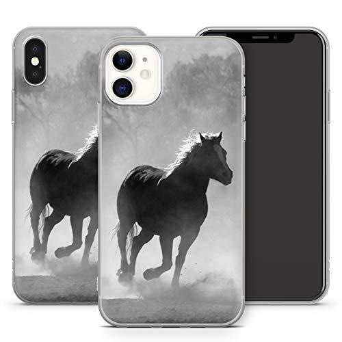 Handyhülle Pferd für iPhone Apple Silikon MMM Berlin Hülle Pferde Natur Horse Reiten Pony Einhorn, Kompatibel mit Handy:Apple iPhone 6 Plus / 6S Plus, Hüllendesign:Design 1   Silikon Klar