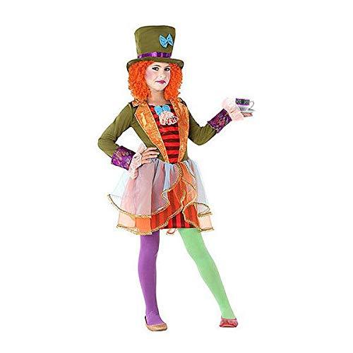 Atosa-61295 Atosa-61295-Disfraz Sombrerera Loca-Infantil Niña, Multicolor, 3 a 4 años (61295