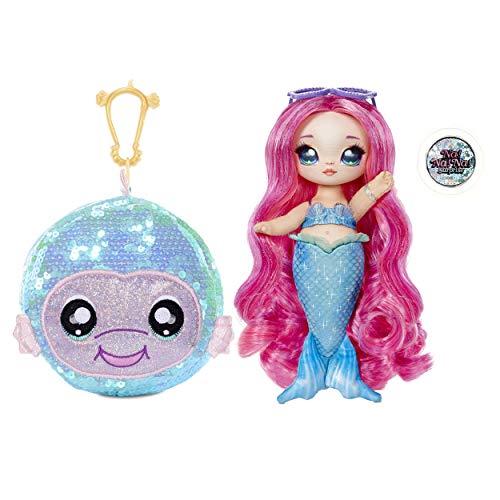 Na! Na! Na! Surprise Bambola alla moda 2 in 1 MARINA JEWELS, Borsa con pompon, Bambola sirenetta con vestiti e accessori, Serie Sparkle, Età: 5+ anni