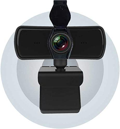 Webcam with Microphone 2K 1080 P Fixed Lens Webcam Desktop or Laptop USB Webcam with Cover for product image