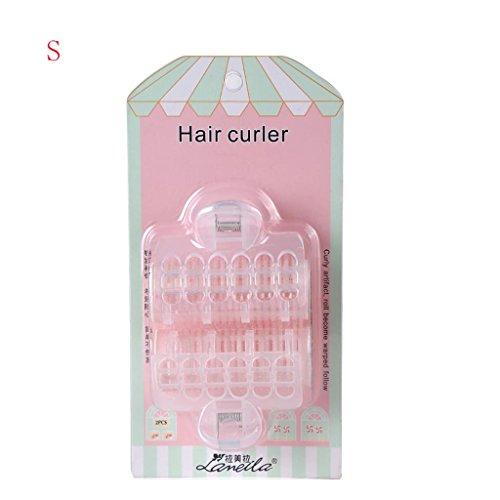 Gros rouleaux boucles d'éponge Boucles d'oreilles cheveux coiffures outils à cheveux 6.7 * 3.3cm, 1