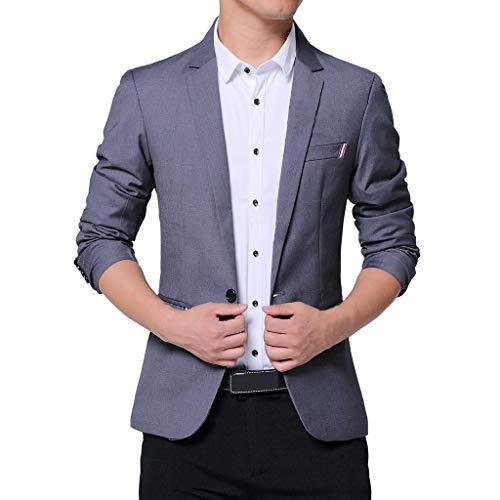 FRAUIT Abito Uomo Elegante Taglie Forti Giacca Ragazzo Slim Fit Plus Size Oversize Blazer Uomini Eleganti Regular Fit Vestito da Sposo Giacche Casual Suit One Button Cappotto Top