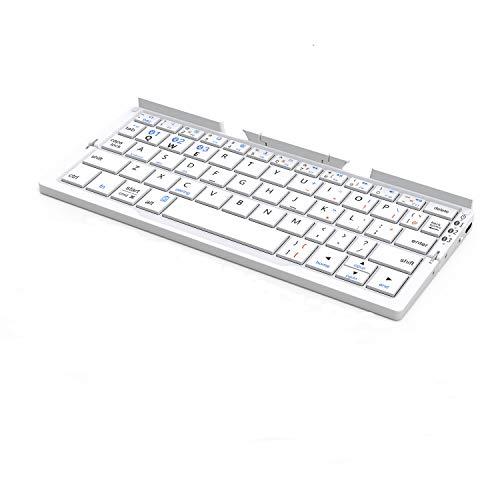 Bluetoothキーボード 折りたたみ式 ワイヤレスキーボード iPad iPhone用 iOS/Android/Windowsに対応 IC-BK1...