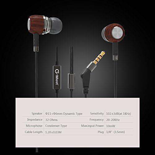 G-Most E8, Genuine Wood, in Ear Headphones