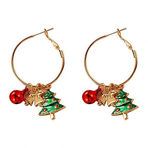 WanXingY 1 / 2Pairs Pendientes de Navidad Damas Fiesta de Joyería Accesorios Regalos Regalos Campanas de aleación Creativa Guirnalda Árbol de Navidad Colgantes (Color : 03)