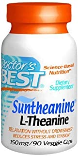 Doctor's Best Suntheanine L-Theanine (150mg) Vegetable Capsules 90-Count