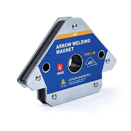 Duradero 2PCS 110lbs Soporte de soldadura magnética Posicionador de esquina Localizador de...