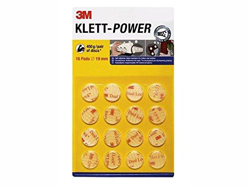 Klett-Power Pads - Durchmesser: 19mm · selbstklebend · wasserfest - für Innen und Außen