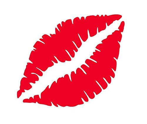 キスマーク 唇 くちびる リップ kissmark ステッカー シール (デカール) ミニ スモールサイズ (レッド)