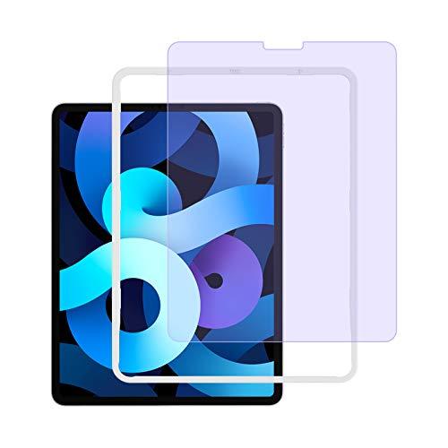 NIMASO フィルム iPad Air4 iPad Pro 11 (2021   2020   2018) 用 ブルーライトカット ガラスフィルム 保護 フイルム ガイド枠付き (ipadair4世代   ipadpro11 用) NTB20C62