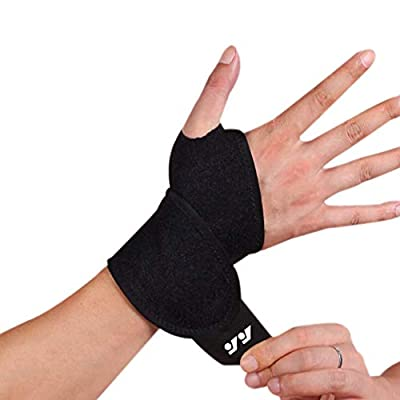 Wrist Brace for Ganglion Cyst, Arthritis, Carpal Tunnel, Breathable Sport/Fitness Wrist Support, for Left and Right Hand Man and Woman(Black-1)