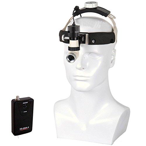 TOPCHANCES LED Surgical Headlight Medical Light Loupe Magnifier Head Lamp Adjustable High Intensity Operation Chargeable Dental Headlamp for Dental Gynecology Surgery (KD-202A-6(5 W))