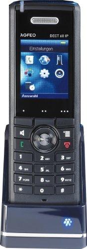 Agfeo DECT 60 IP Schnurlose Digitaltelefone (5,1 cm (2 Zoll) Display, Freisprechenfunktion, Weckfunktion) schwarz