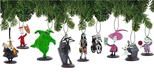 Disney Nightmare Before Christmas Ornament Set Deluxe Holiday Decorations