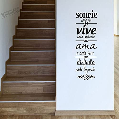 Usmnxo Reglas de la casa Pegatina de Pared versión Vinilo Pegatina de Pared decoración del hogar Vinilo extraíble Mural para Sala de Estar 57x178cm