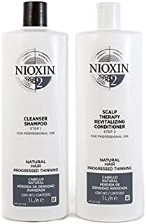 Nioxin System 2 Duo Pack, Cleanser 1L and Scalp Therapy Revitalising Conditioner 1L