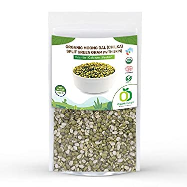 Organic Delight Moong Dal (Chilka) / Split Green Gram (with Skin), 500g