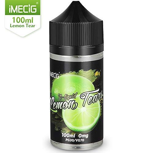 IMECIG 100ml E líquido Lágrima de limón Liquido Vaper Para Cigarros electronicos 70/30 E Liquid Cigarrillo Electronico Premium Sabores Vapeador 0mg Nicotina
