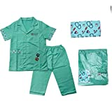 F Fityle Juego de rol de Doctor Vestido para Doctor, Juego de Disfraces de Veterinario para niños, Regalo de Juguete de fantasía para niñas, niños de 3 4 5 - Verde