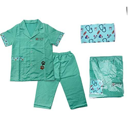 Sharplace Doctor Dress Up Doctor Juego de Roles Juguetes Disfraz Vet Set para Nios Juguete de Simulacin Regalo Nias Nios 3 4 5 aos Fiesta de Cumpleaos Jug - Verde