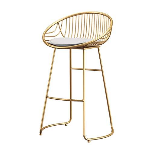 Stoel moderne minimalistische ijzeren hoge kruk bar eettafel thuis rugleuning kruk barkruk
