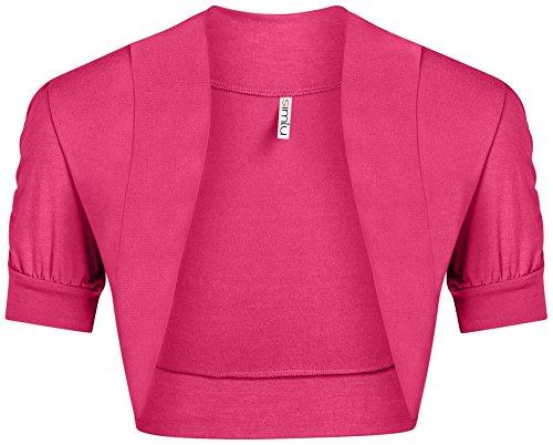 Fuchsia Bolero Shrug for Women Hot Pink Bolero Caridgan Ladies Regular and Plus Size Shrug,Fuchsia,X-Large