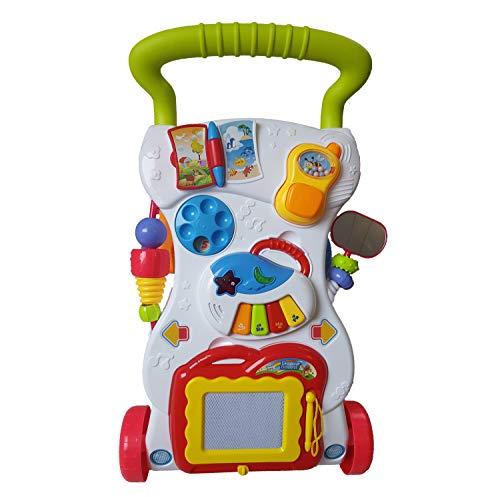 Laufwagen mit Zeichentafel, Piano und kleinem Telefon