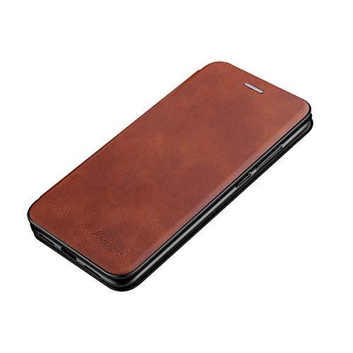 Oihxse Funda Compatible con Xiaomi Redmi 5 Plus Cartera Carcasa Cuero PU Flip Folio Magnético Tipo Libro Tapa Proteccion Caja Interna de TPU y Ranuras para Tarjetas Bumper Case-Marrón