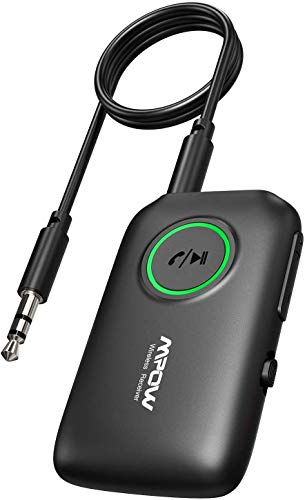 Mpow Bluetooth Adapter Audio 5.0, Bluetooth Empfänger Transmitter, 2 in 1 Wireless Sender Empfänger, aptX niedrige Latenz, aptX HD,für TV,Laptops,Heimlautsprechersysteme, mit 3,5mm und Cinch Audiokabe