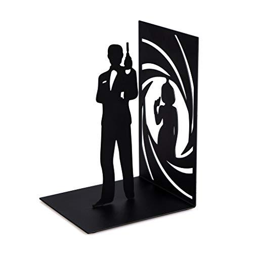 Bond Buchstütze aus schwarzem Metall