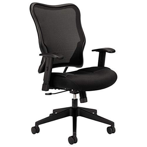 New-basyx VL571VB10 - VL571 Mid-Back Work Chair, Mesh Back, Fabric Seat, Black - BSXVL571VB10