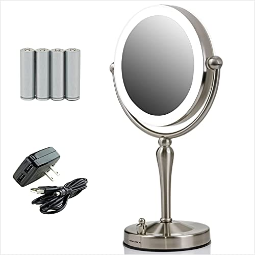 Ovente Lighted Makeup Mirror Tabletop 7.5