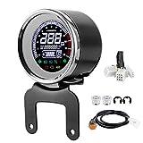 Contagiri per moto, LCD Contachilometri per moto Velocità Indicatore carburante Contagiri Tachimetro temperatura acqua