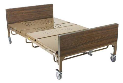 "Full Electric Bariatric Bed - 48"" - Bariatric Bed, 48"" Foam Mattress & 2 pr""T"" Rails"