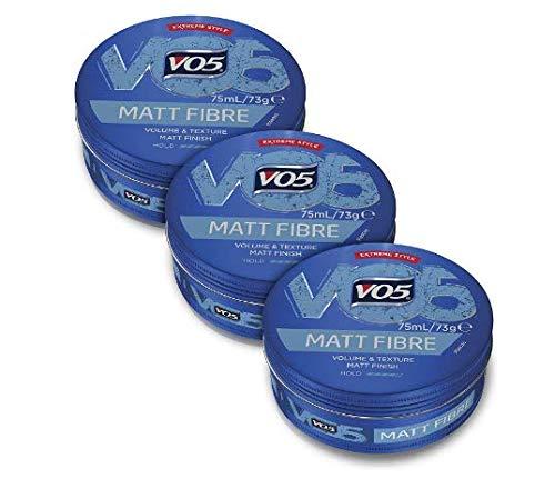 VO5 Extreme Style Fibre Mat pour un look professionnel pour homme et femme de tous types de cheveux et couleurs Grand pack (3 x 75 ml)