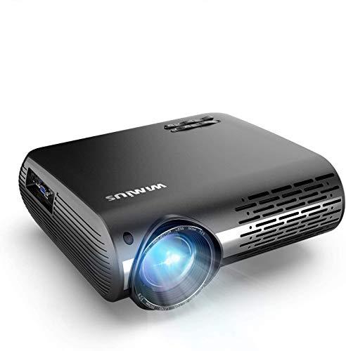 Videoproiettore,WiMiUS 7000 Lumen Nativa 1080P LED Proiettore Full HD Con 300'' Display Supporto 4K Correzione trapezoidale elettronica ± 50 °proiettore per Smartphone, PC,PS4