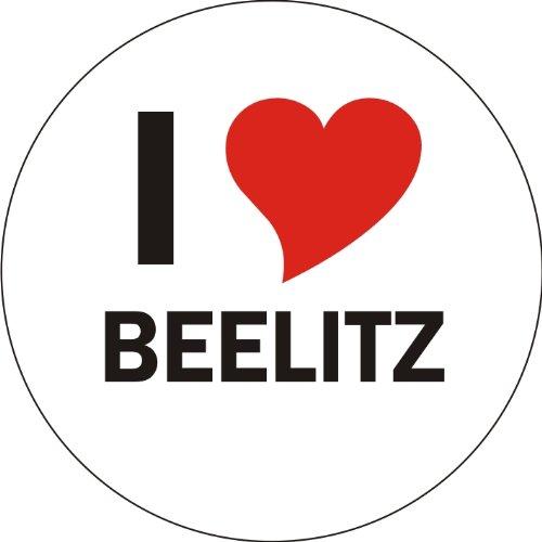 I Love BEELITZ Laptopaufkleber Laptopskin 210x210 mm rund