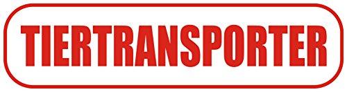 INDIGOS UG - Magnetschild Tiertransporter 30 x 8 cm - Magnetfolie für Auto/LKW/Truck/Baustelle/Firma