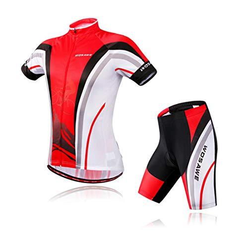 AKAUFENG Radanzug Jungen ärmellos Jacke Design Wasserabweisend Mountainbike Kurz Outdoor Sport Fahrradanzug Männer Shorts
