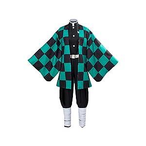 Adult Tanjirou Kamado Costume Demon Slayer: Kimetsu no Yaiba Cosplay Outfit Kimomo for Mens