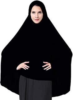 Ababalaya Women's Elegant Modest Muslim Islamic Ramadan Soft Lightweight Jersey Hijab Long Scarf