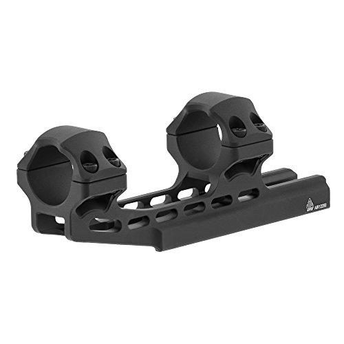 UTG Accu-Sync 1' High Profile 50mm Offset Picatinny Rings, Matte Black (AIR12250)
